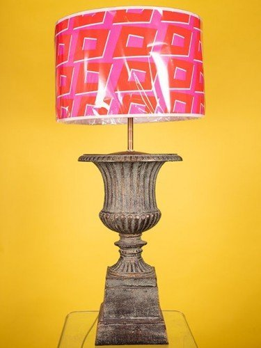 Cast iron table lamp, featured in Fritz Fryer sale.