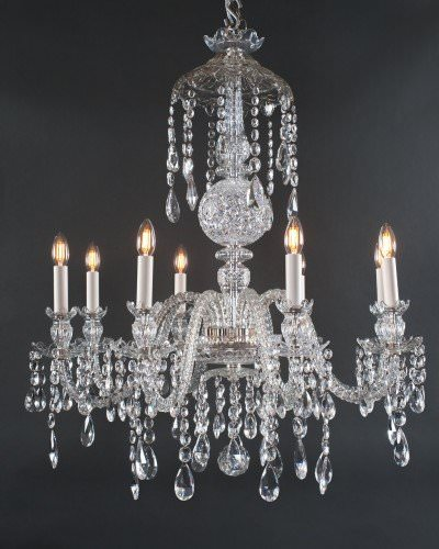 Pair Of Crystal Chandelier In The Manner Of Perry & Co, Antique Lighting