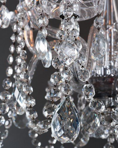 Antique crystal chandelier, crystal detail