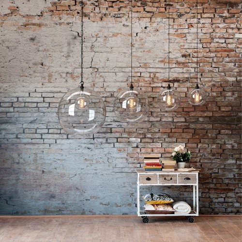 Hereford clear globe pendant lights all sizes in a row