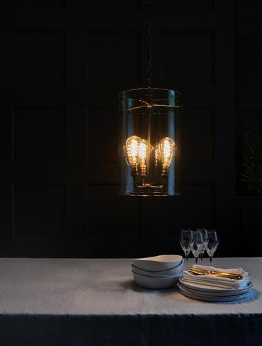 Large Sellack lantern pendant light with 3 light centre