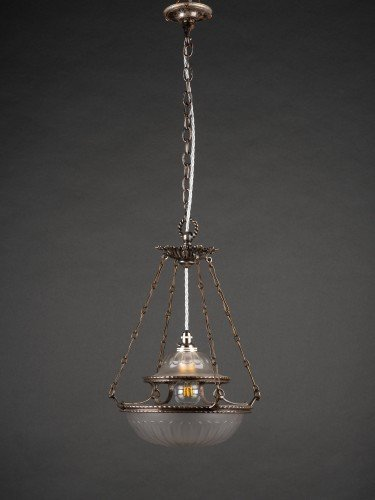 antique lighting stunning completely original osler glass pendant with decorative motifs lights off