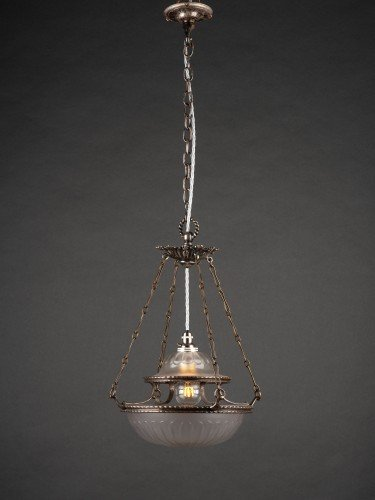 antique lighting stunning completely original osler glass pendant with decorative motifs lights on
