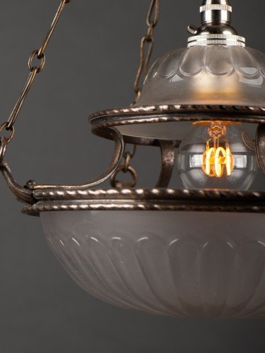 antique lighting stunning completely original osler glass pendant with decorative motifs detail