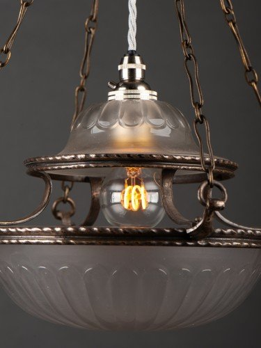 antique lighting stunning completely original osler glass pendant with decorative motifs side