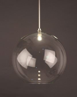 Globe Light Hereford Clear Glass Globe Bathroom Ceiling Light Ip44 Rated