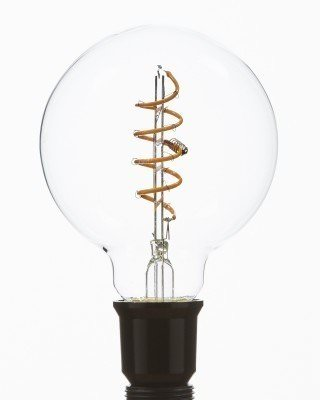 Vintage Light Bulb, Led Midi Globe Spiral Filament Bulb