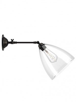 Adjustable Reading Light with Clear Ledbury Shade