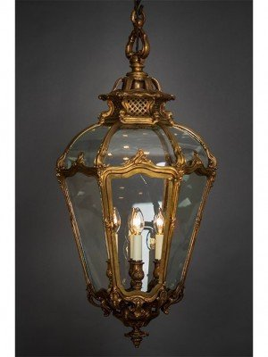 Antique Cast Brass Lantern c.1880