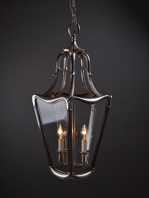 Elegant Early 20th century silver plate French lantern