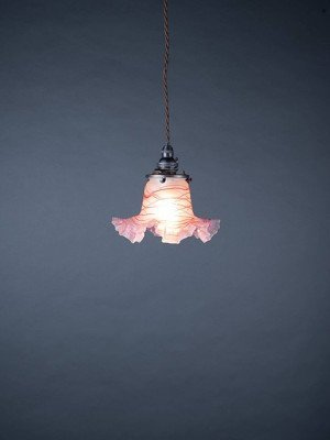 French frilled glass pendant light