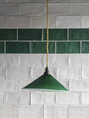 English coolie pendant light green