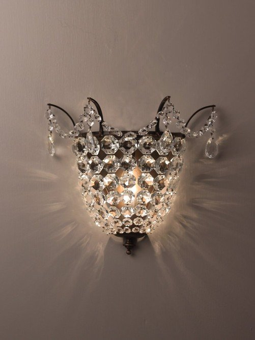 Brampton Crystal Wall Light