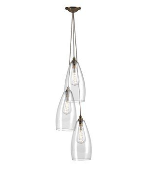 Upton Pendant Cluster Chandelier - Staggered