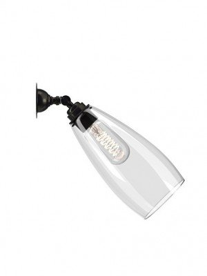 Adjustable spotlight with clear Upton