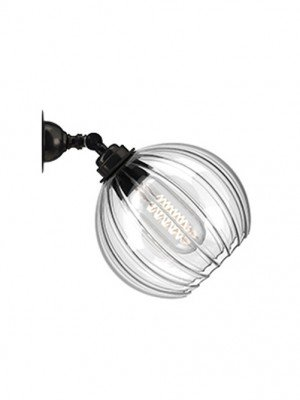 Adjustable spotlight with ribbed Hereford Globe