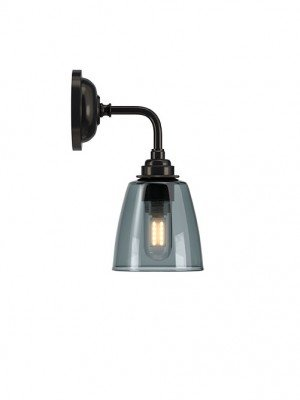 Smoked Pixley Contemporary bathroom Wall light