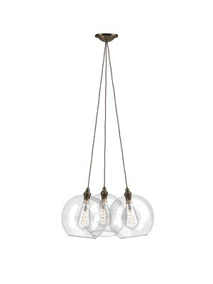 Hereford dish cluster chandelier 3 way