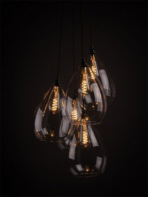 Multi pendant Wellington staggered cluster chandelier