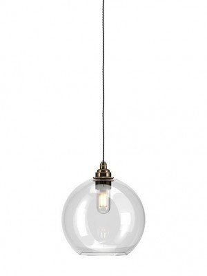 Hereford Clear Glass globe bathroom pendant light