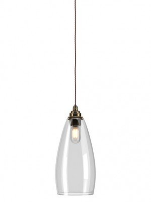 clear glass Upton bathroom pendant light