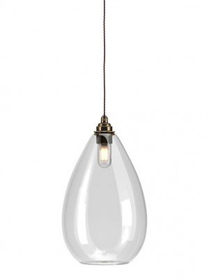 Wellington clear glass bathroom pendant light