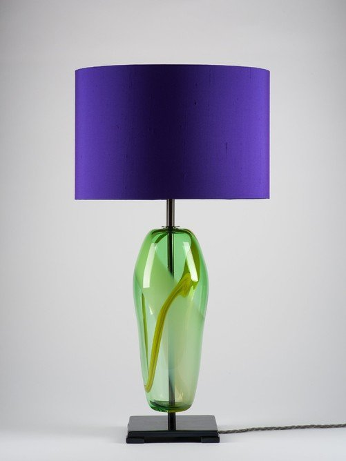 Artisan Handblown green glass Lucton Table lamp