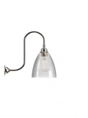 Ledbury Skinny Ribbed Glass Swan Neck Wall Light