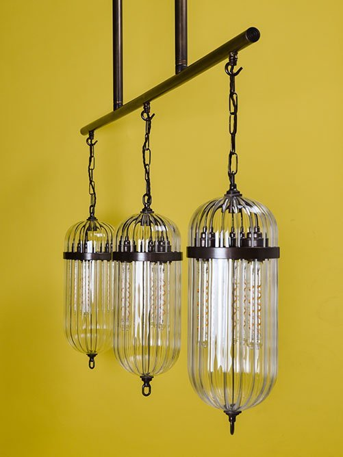 Made to order Aston lantern bar pendant light