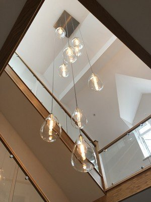 Wellington staged cluster chandelier