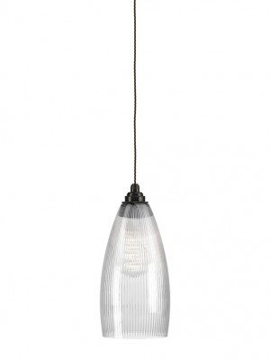 Skinny Ribbed Glass Upton Pendant Light