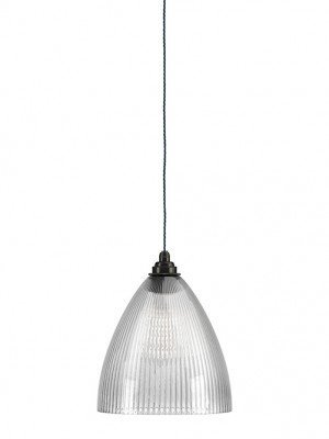 Ledbury skinny ribbed glass pendant light
