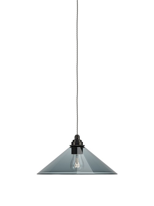 Smoked Glass Hay coolie Pendant light