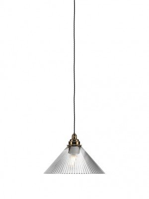 Hay coolie skinny ribbed glass bathroom pendant light