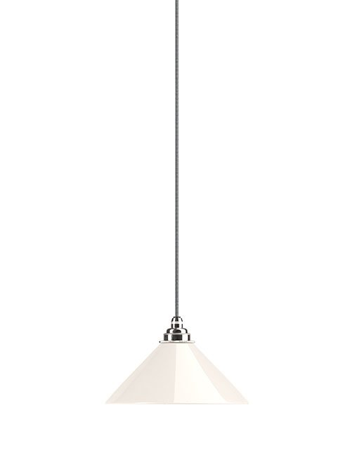 Hay coolie white glass bathroom pendant light
