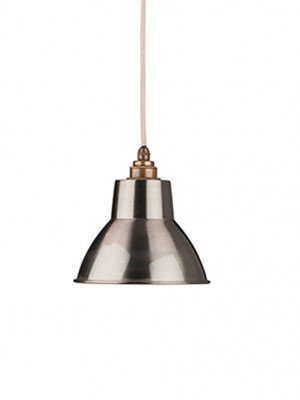 The Brushed Steel Moccas Industrial Pendant Light