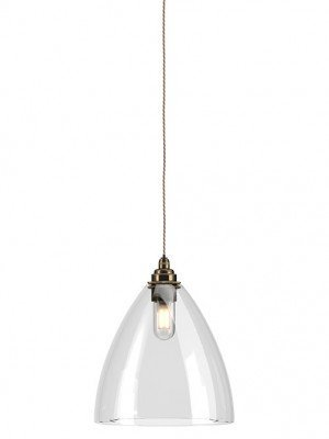 Clear Glass Ledbury bathroom pendant light