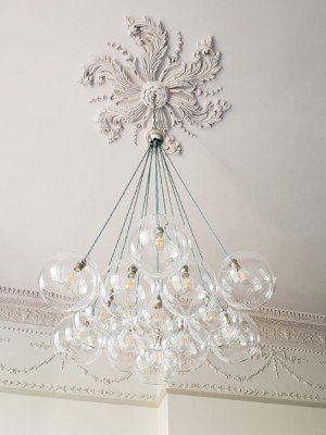 Hereford Dish cluster chandelier 13 way