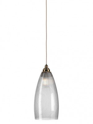 Skinny Ribbed Glass Upton Bathroom Pendant Light