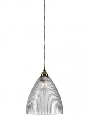 Skinny Ribbed Ledbury Glass bathroom pendant light