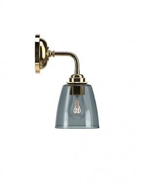 Contemporary Wall Light With Pixley Smoked Glass Shade