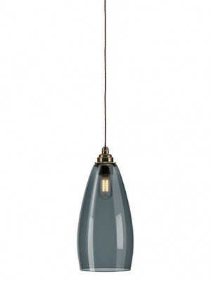 Upton Smoked glass bathroom pendant light