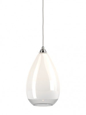 Wellington White & Clear Glass Pendant