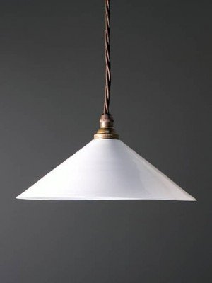 English coolie pendant light white