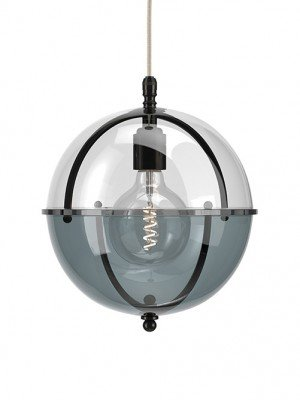 Grafton Glass Globe pendant in Bronze