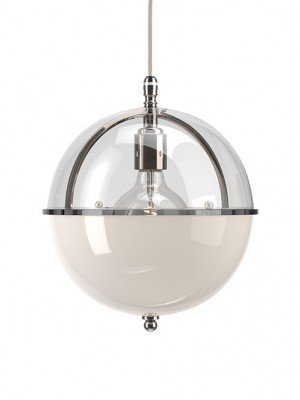 Grafton Glass Globe pendant in Nickel