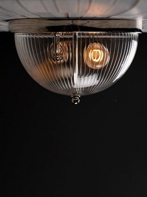 Flush to ceiling Grafton Globe light