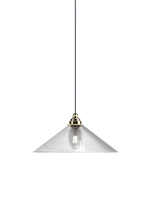 Hay Coolie Pendant with skinny ribbed glass