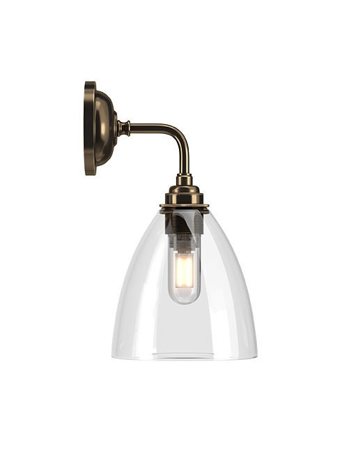 Ledbury Clear Glass Contemporary Bathroom Light