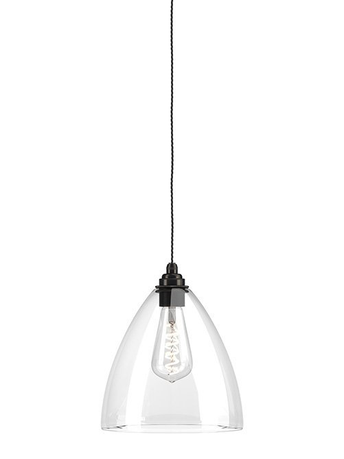 Clear Glass Pendant Ceiling Light Ledbury Industrial